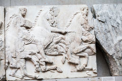 LONDON, BRITISH MUSEUM. Ancient Greek collection of Pantheon Royalty Free Stock Photography