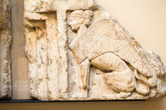 LONDON, BRITISH MUSEUM. Ancient Greek collection of Pantheon Royalty Free Stock Photo