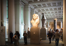 London.British museum Egyptian sculpture hall, Pharaoh Rameses Stock Photography