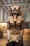 London. British museum Egyptian sculpture hall, Pharaoh Rameses Stock Photo