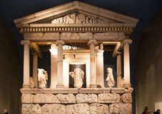 London. British museum exhibition hall. Ancient Greek collection Royalty Free Stock Image