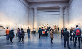 London. British museum exhibition hall. Ancient Greek collection Royalty Free Stock Images