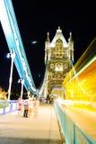 London bro, natt Arkivfoto