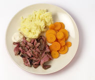 London broil meal from above Stock Photos