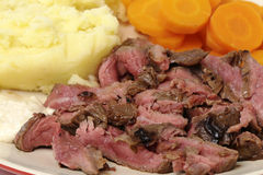 London broil meal closeup Stock Photo