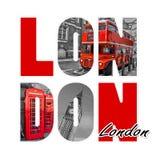 London-Buchstaben lokalisiert auf Weiß Stockfotos