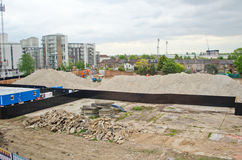 London Building site. Construction site where buildings are being put up Royalty Free Stock Photos