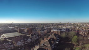 London buildings drone flying above