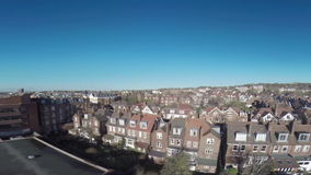 London buildings drone flying above rising stock video footage
