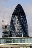 London Buildings and Streets. A Shot of the cityscape of London 2009 Royalty Free Stock Image