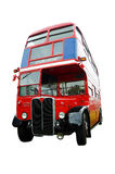 London Bus. An old red double-decker London bus isolated against a white background royalty free stock photos