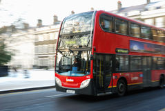 London bus. Travelling a London Route Stock Images
