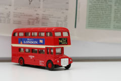 London-Bus Stockbild
