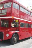 London bus in Belluno, during the Beatles days Royalty Free Stock Images