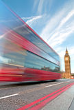 London bus and Big Ben Royalty Free Stock Photography