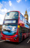 London bus and big ben Royalty Free Stock Photos