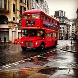 London bus.  Classic Royalty Free Stock Photos