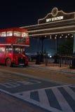 London-Bus an der Himmelstation, Duryu-Park-sternenklare Nachtbeleuchtungsnacht in Daegu Südkorea Stockbilder