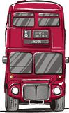 London bus. Digital drawing. London red bus Royalty Free Stock Images