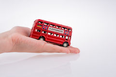 London Bus and hand Stock Photos