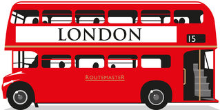 London Bus. Illustration of a Routemaster London Bus