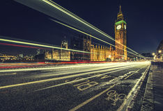 London Bus lane Royalty Free Stock Photo