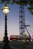 London Bus and the London Eye Stock Photography