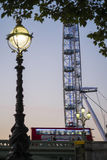London Bus and the London Eye Stock Images