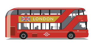 London-Bus neue Routemaster-Art Lizenzfreie Stockbilder
