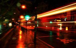 London Bus. Night Scene, London night lights Royalty Free Stock Photography