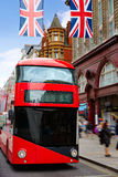London bus Oxford Street W1 Westminster Stock Image