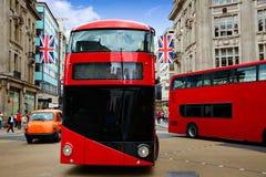 London bus Oxford Street W1 Westminster Stock Photos