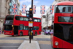 London bus Oxford Street W1 Westminster Royalty Free Stock Photos
