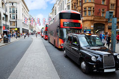 Free London Bus Oxford Street W1 Westminster Stock Photography - 85419582