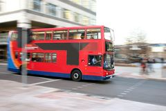 London Bus - Panned Stock Images