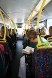London-Bus-Pendler Lizenzfreies Stockbild