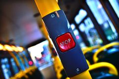 London Bus Stop Button 1 Stock Image