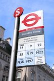 London bus stop Stock Photography