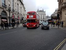 London bus and taxi Stock Images