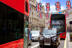 London bus and Taxi Regent Street W1 Royalty Free Stock Photography