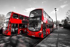 London Bus Transportation Stock Image