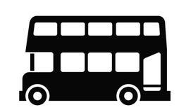 London bus. Vector black London bus icon on white background stock illustration