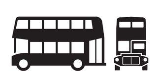 London bus. Vector black London bus icon on white background vector illustration