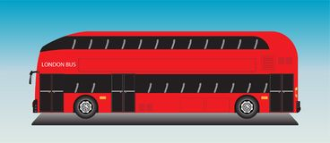 London Bus Vector on blue sky. Background vector illustration