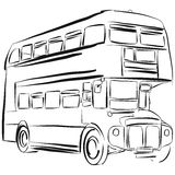 London Bus Vector Drawing Royalty Free Stock Image