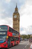 London Buses with Big Ben. Royalty Free Stock Photos