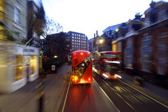 London buses with blur Royalty Free Stock Images