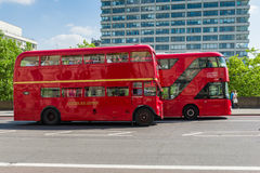 London buses competition Stock Image