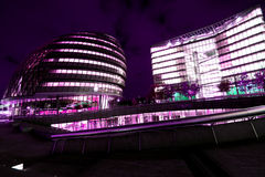 London business. The london city hall and glass offices, the mind of europe, seen by night Stock Photo