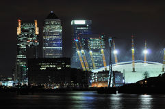 London business district and Dome at night Royalty Free Stock Image